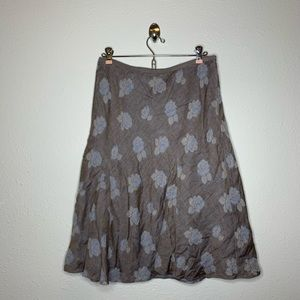 Tommy Bahama Floral Cotton A Line Skirt